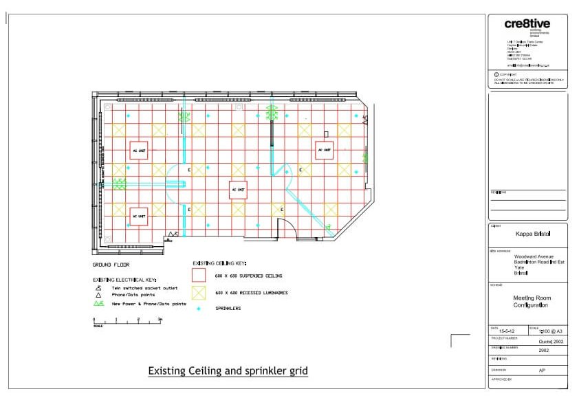 Existing layout downstairs offices