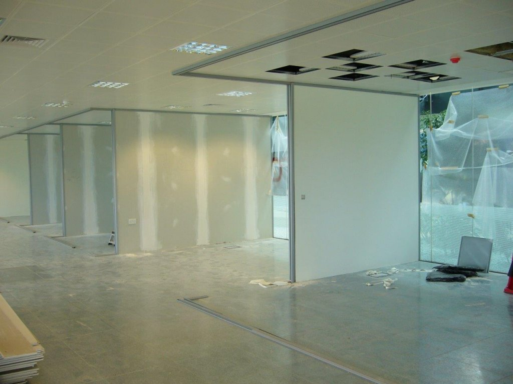 Glass wall partitioning in Bridgewater