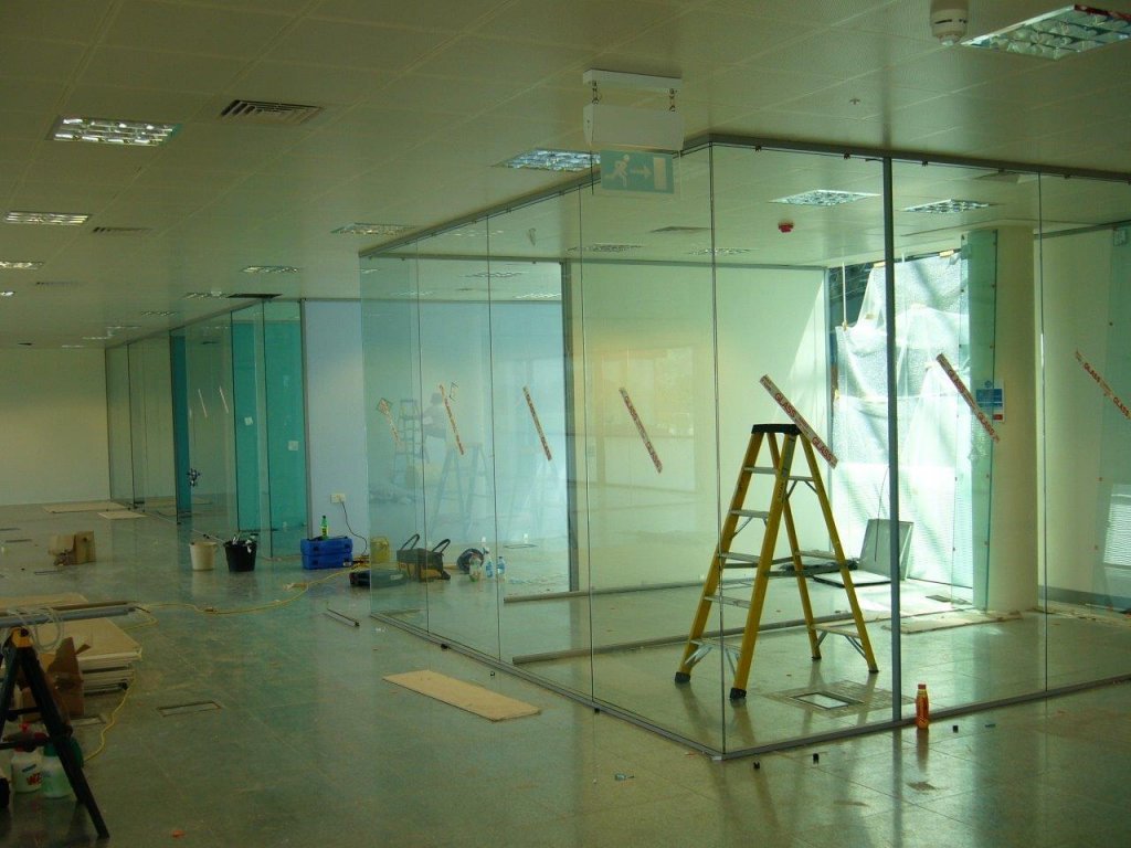 Glass walls for offices