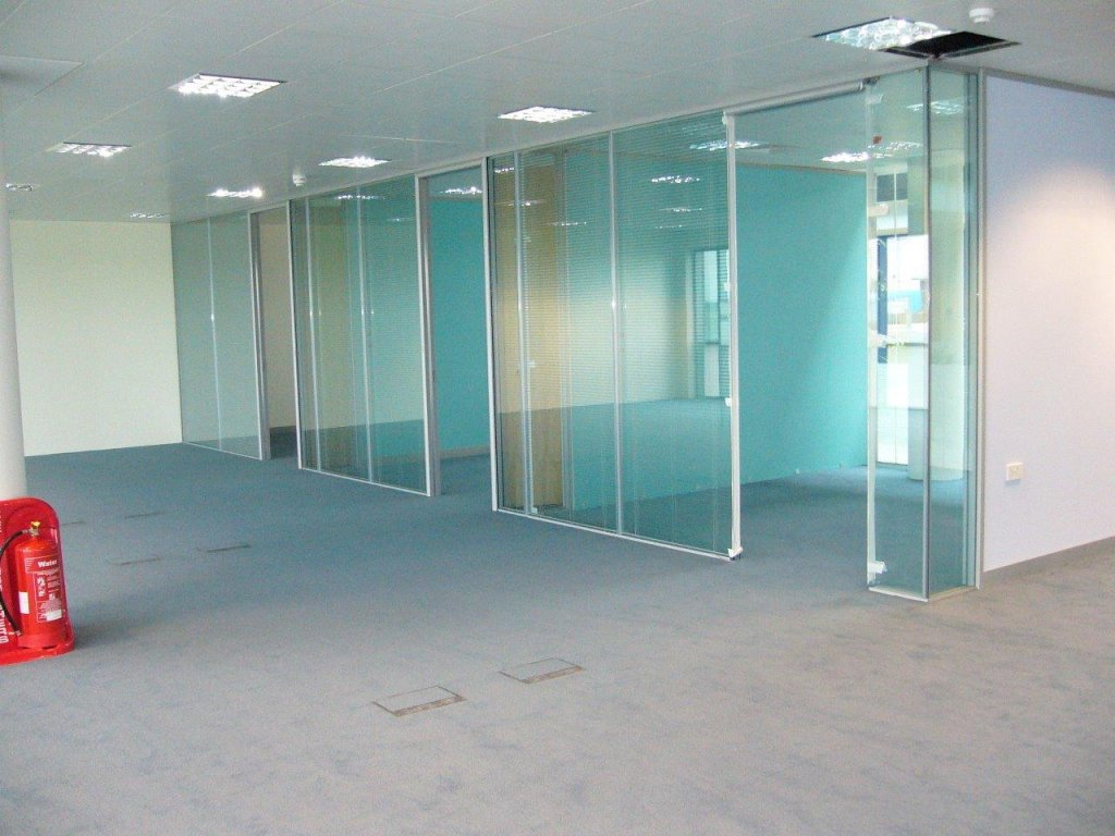 Glass fronted offices