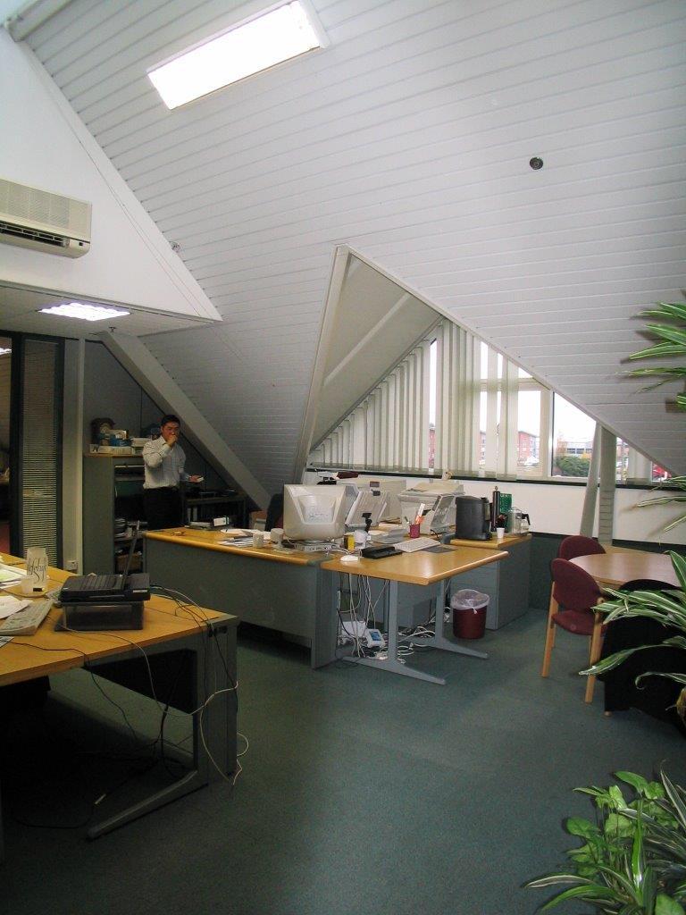 Angled roof's