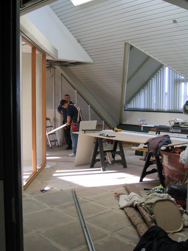 Demountable partition construction