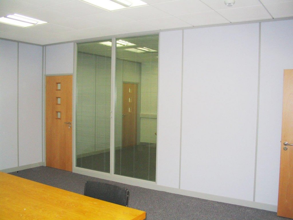 Demountable partition in Taunton