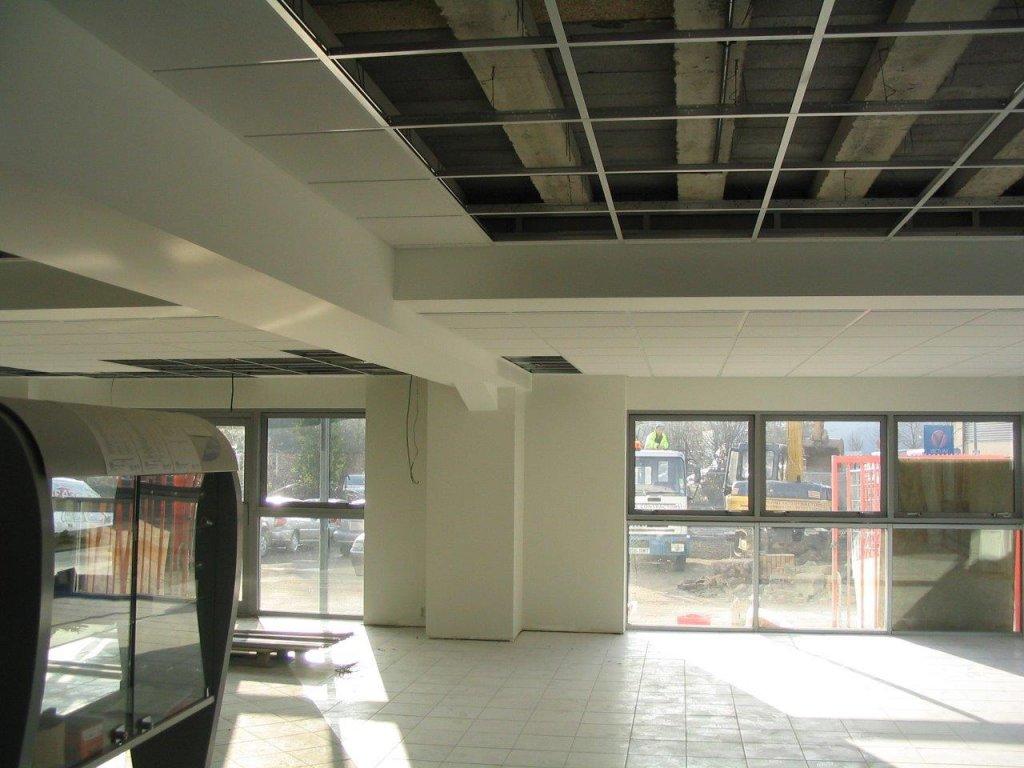 Suspended ceiling for chippenham Motor Co.