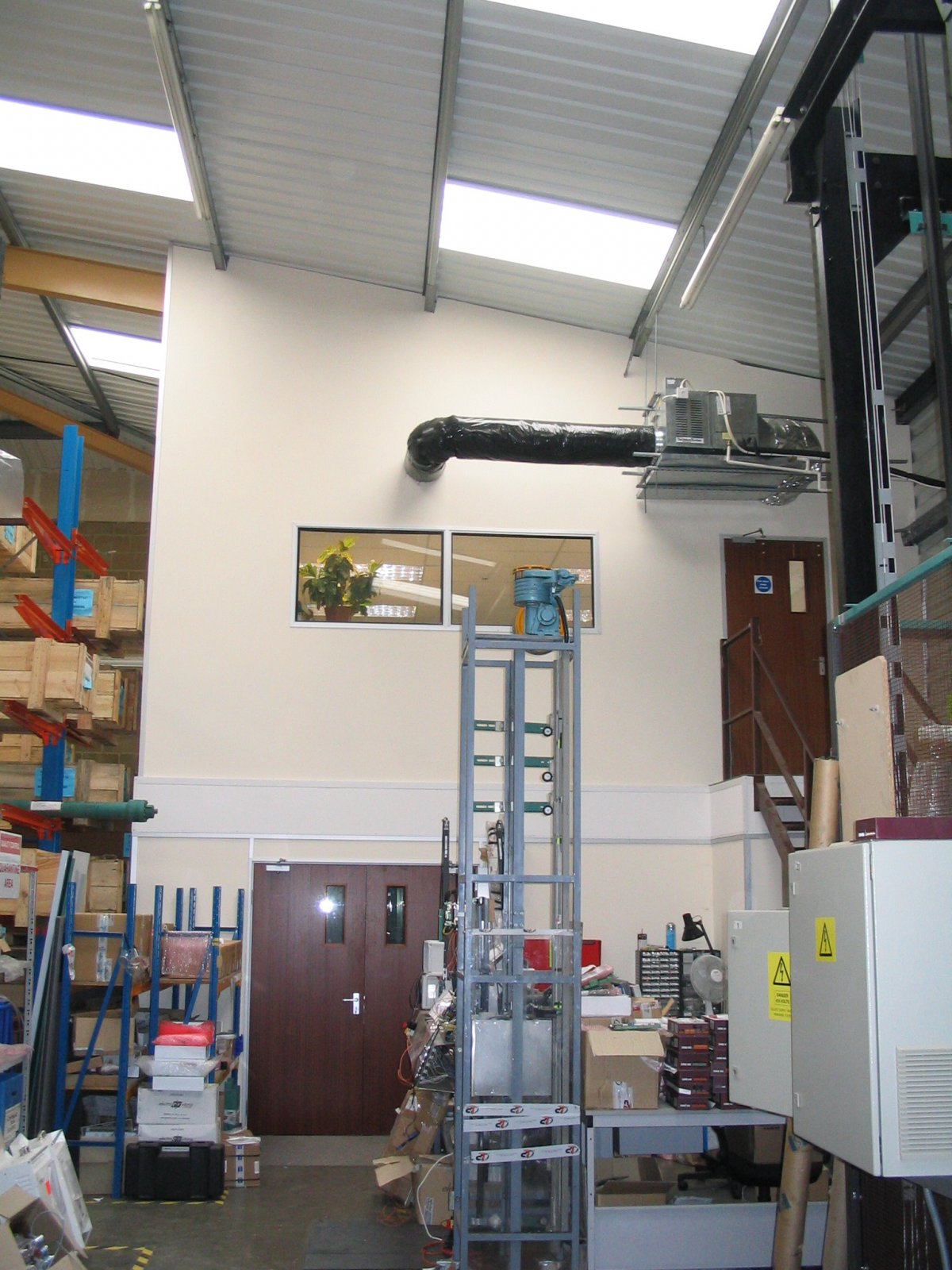 Mezzanine floor construction in Salisbury for Quality Lifts