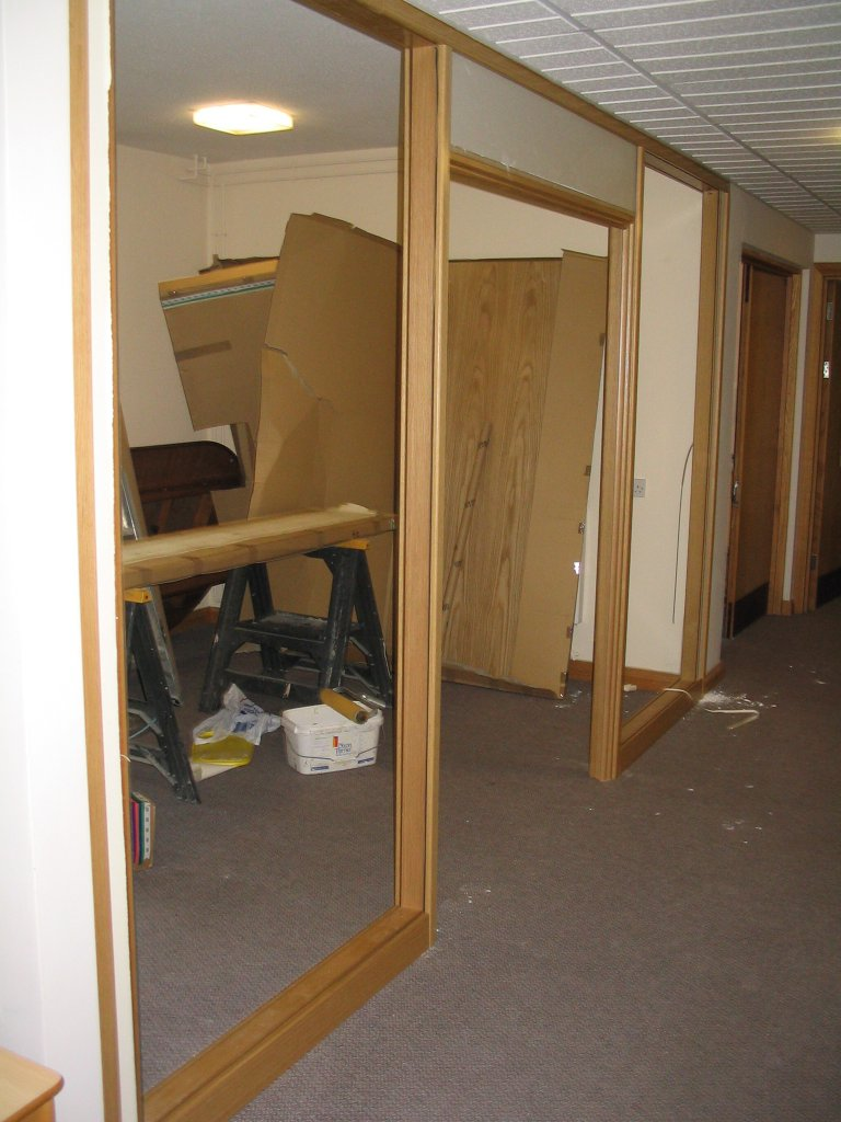 Timber demountable partition in Swindon