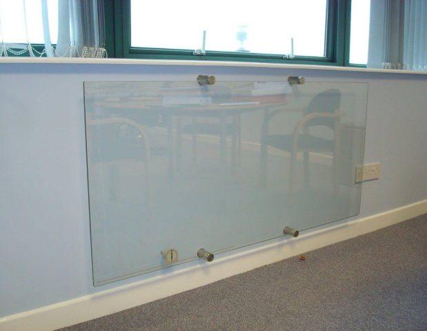 Glass radiator in MD's office