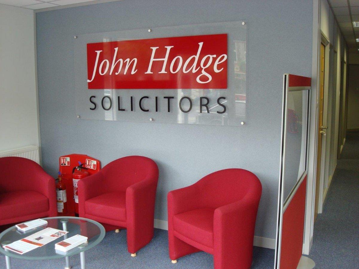 John Hodge Solicitors reception.
