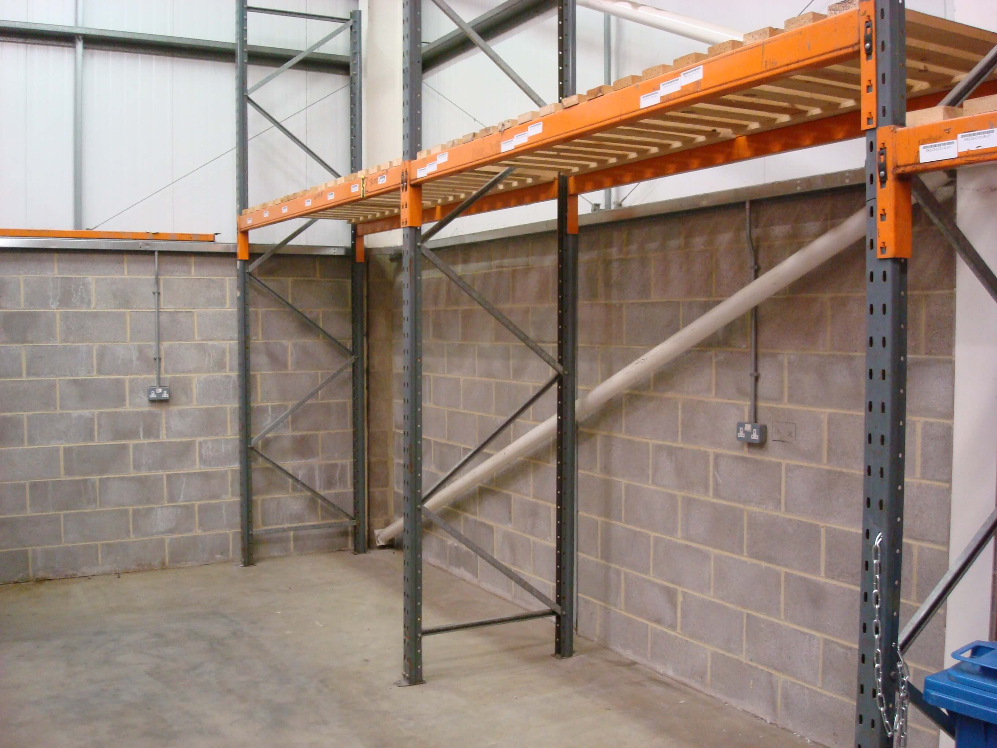 Existing warehouse with racking