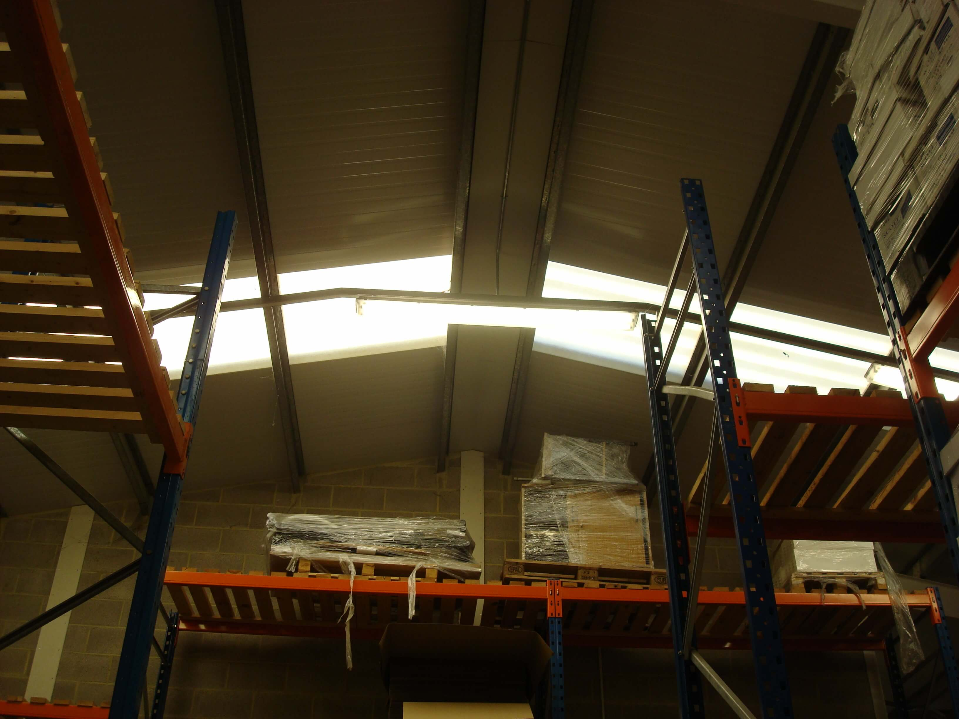 High roof space to fit mezzanine