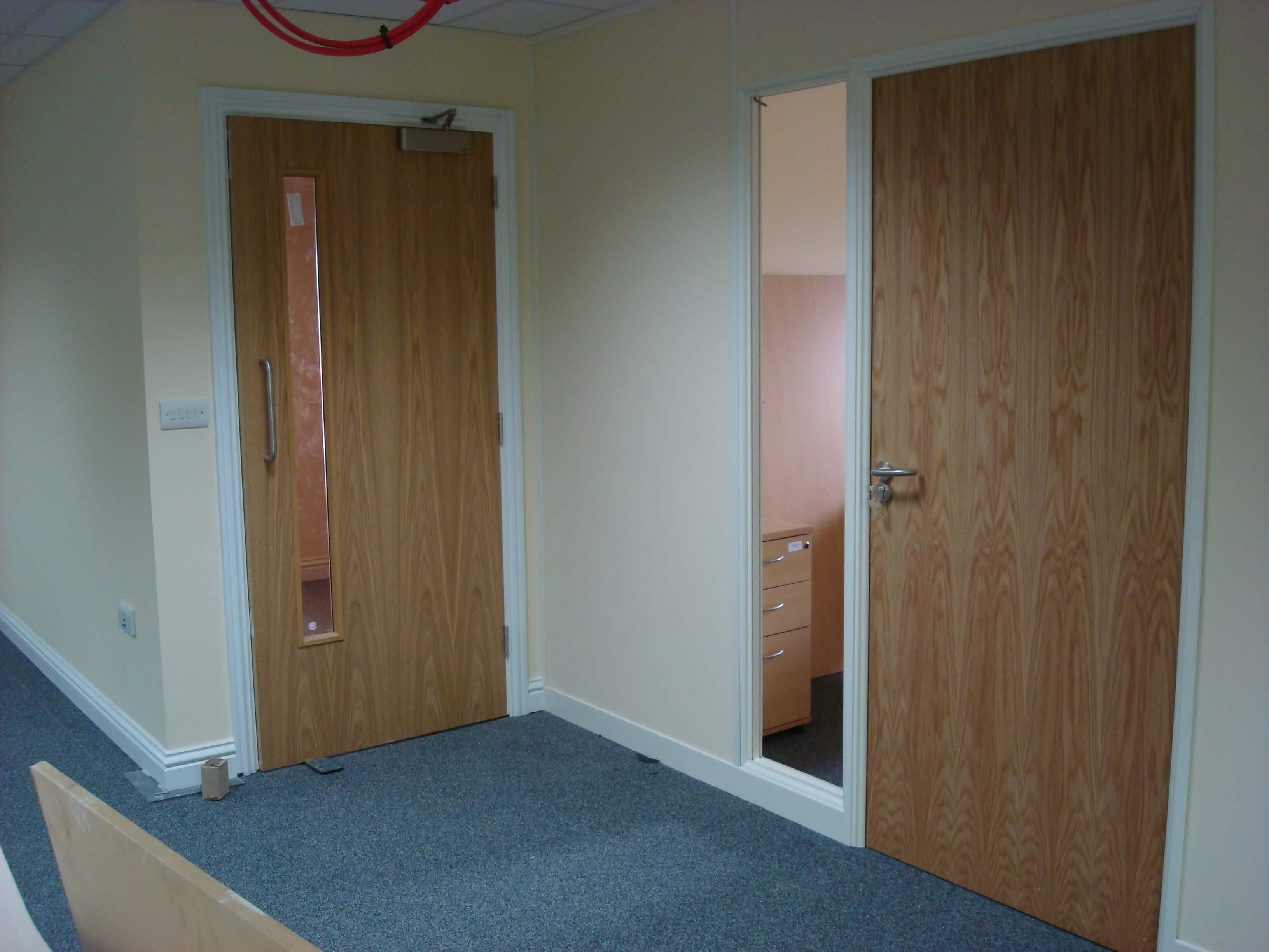 Disabled access door into main office