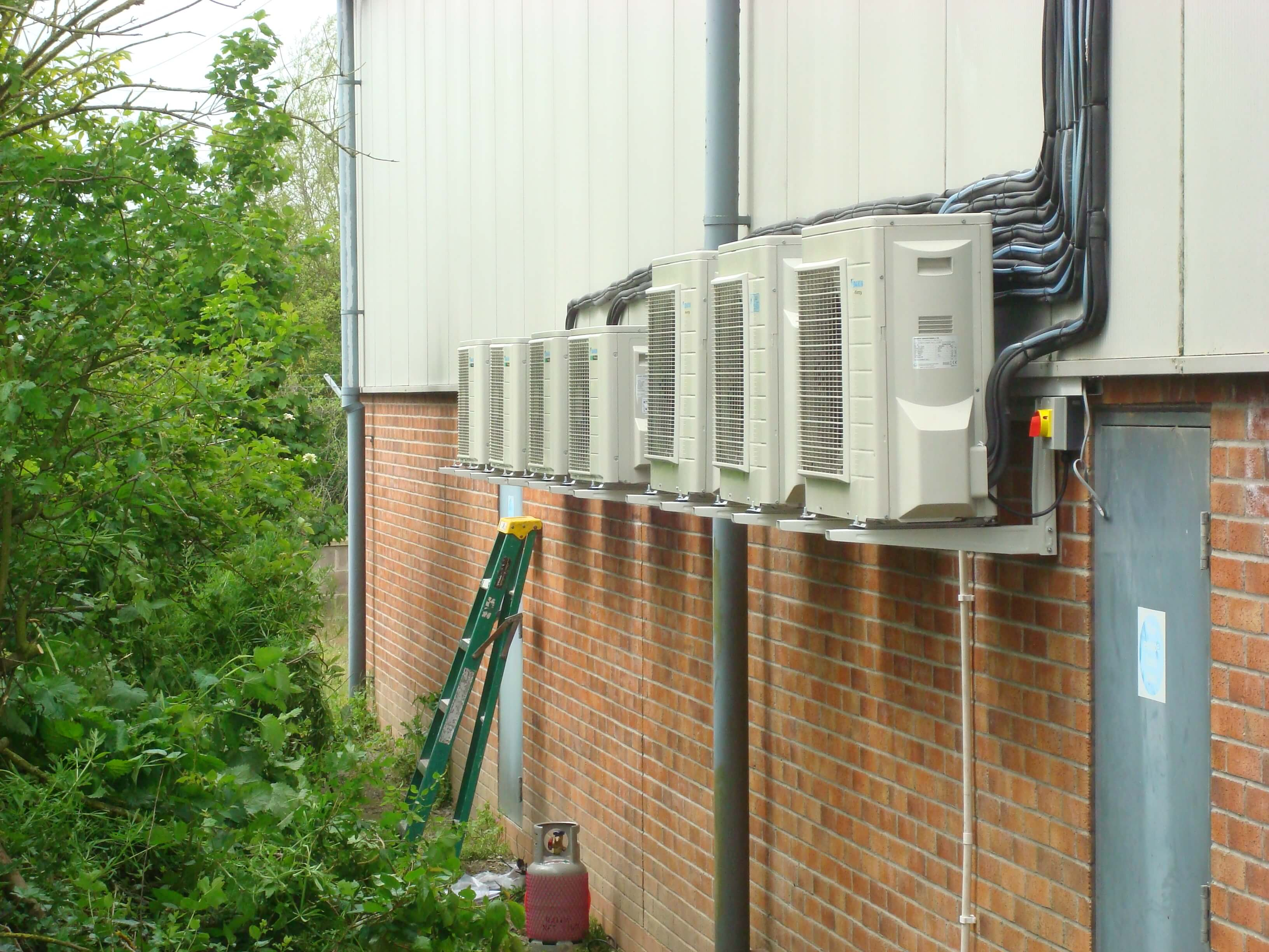 New air conditioning units outside