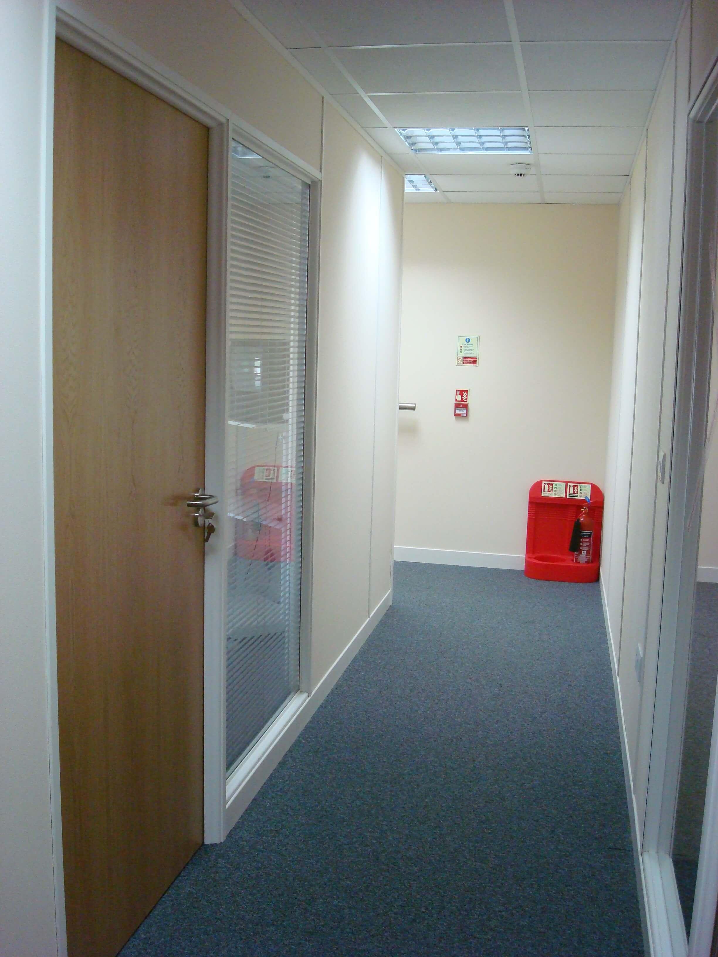 Upstairs office corridor