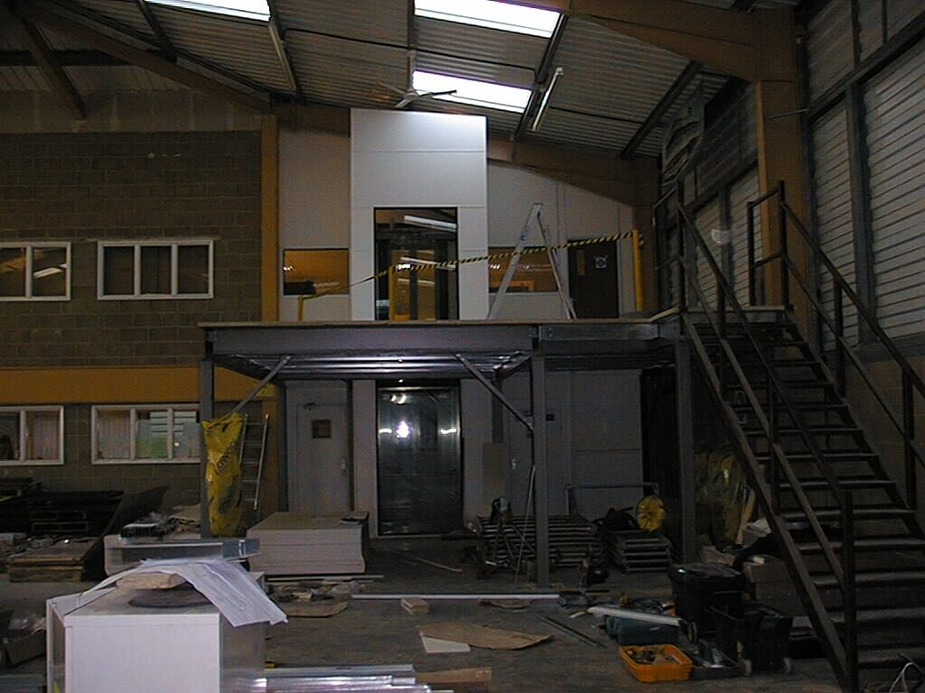 Mezzanine floor construction in Salisbury
