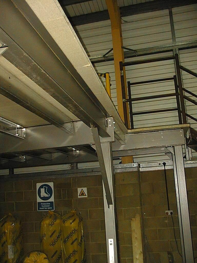 Mezzanine floor steel frames in Salisbury