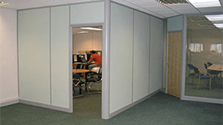 New Corner Office Demountable Partitioning