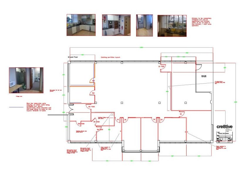 Design work, downstairs plan