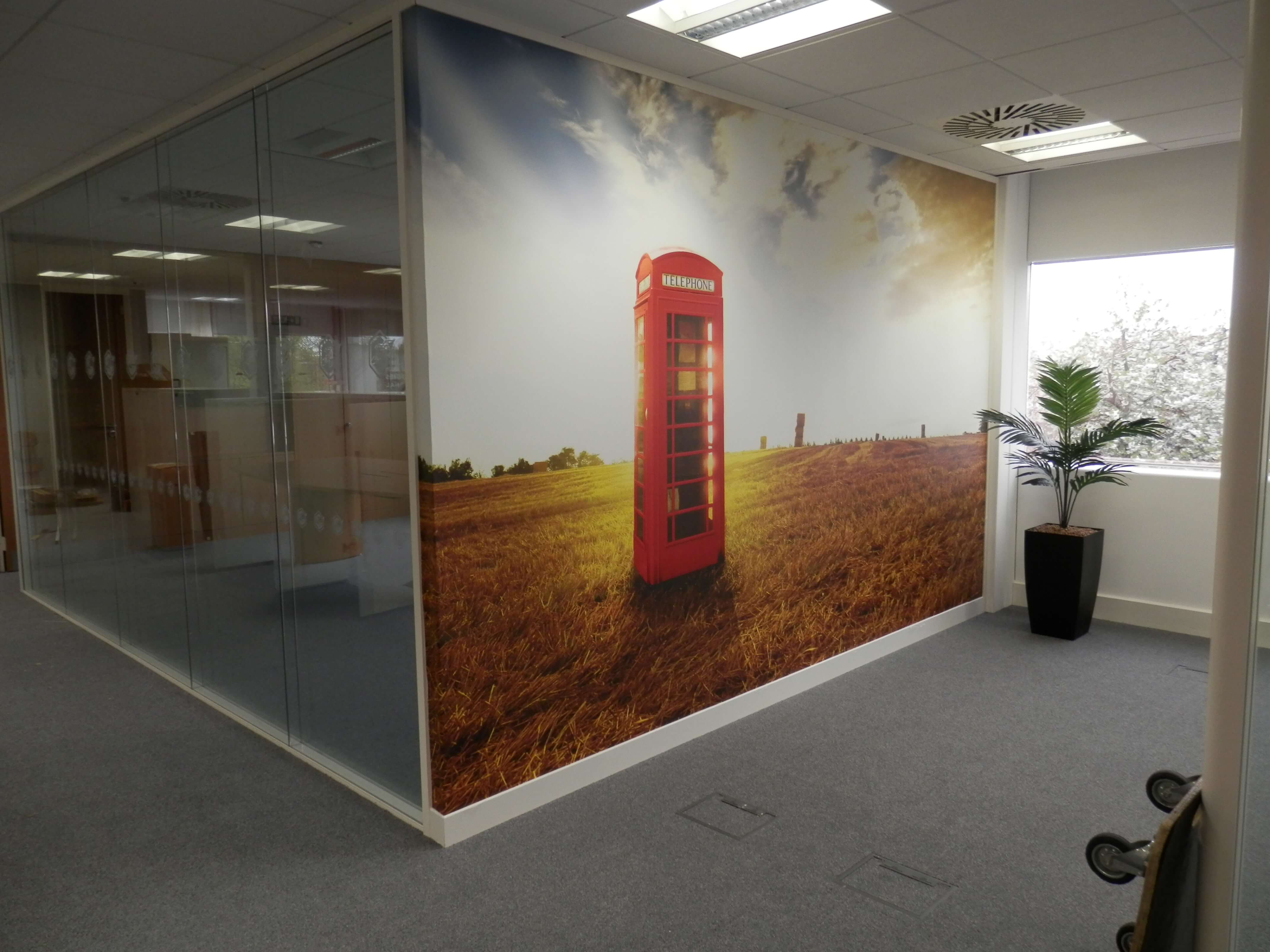 Feature wall digital image printed and installed. Looks good!