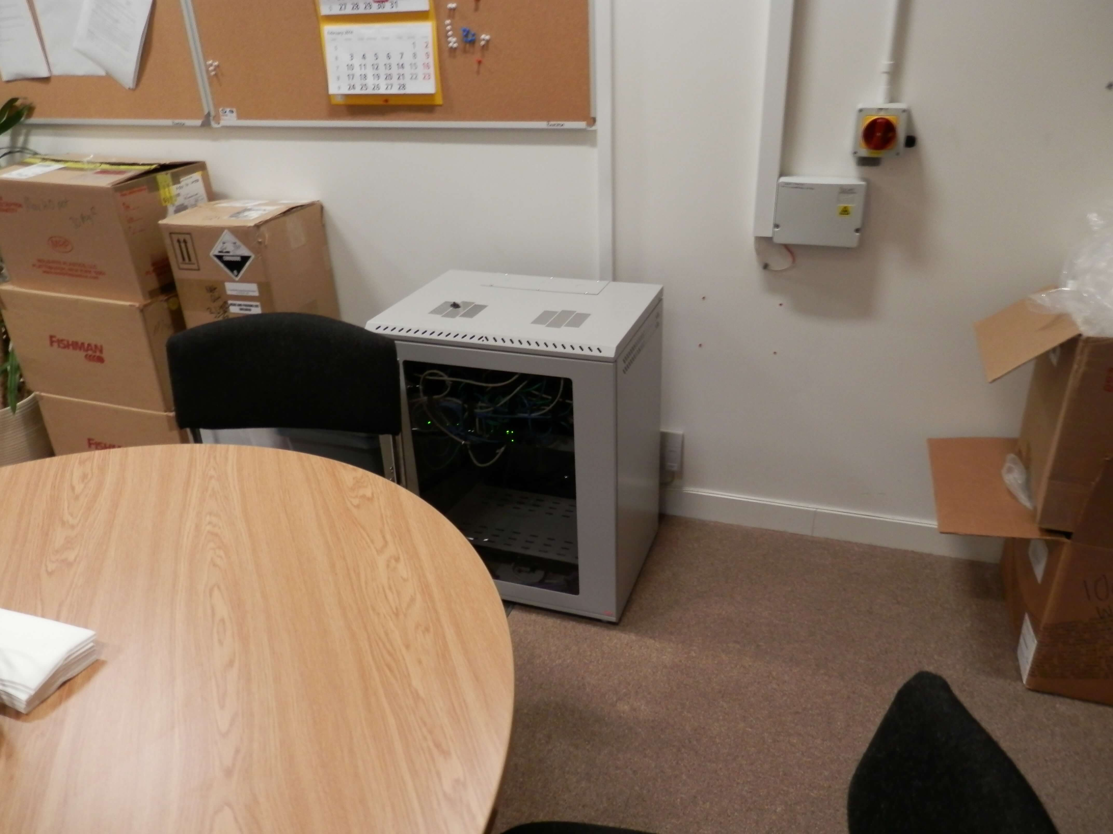 Comms cabinet to be moved