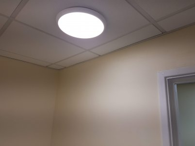 New LED lights installed in the toilets.