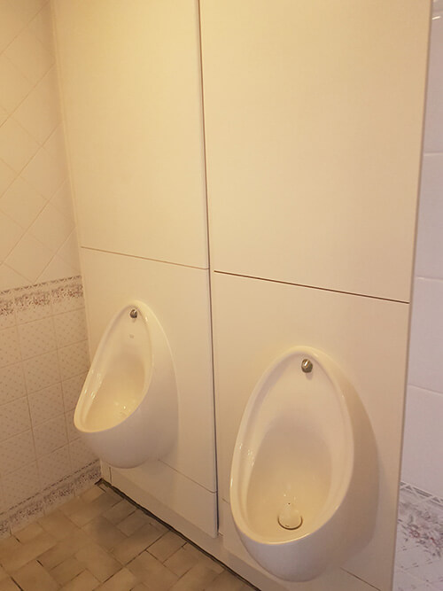 Cre8tive Interiors Washroom and Toilet Refurbishment - IPS panels replaced.