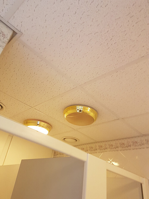 Cre8tive Interiors Washroom and Toilet Refurbishment - ceiling lights replaced.