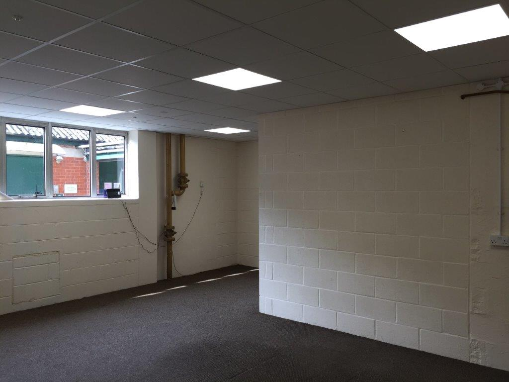 New suspended ceiling and LED lights